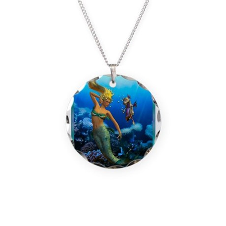 Best Seller Merrow Mermaid Necklace Circle Charm