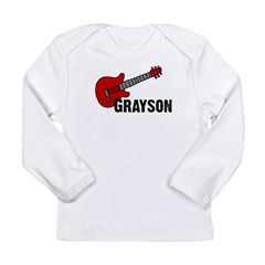 Grayson Guitar Personalized Long Sleeve Infant T-S