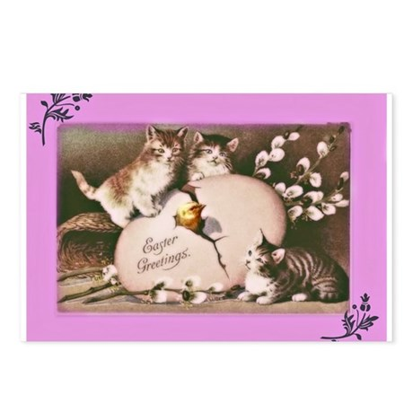 Easter Kittens Postcards (Package of 8)