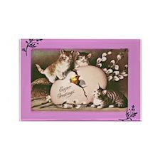 Easter Kittens Rectangle Magnet