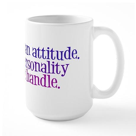 Attitude versus Personality Large Mug