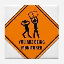 Monitored Tile Coaster