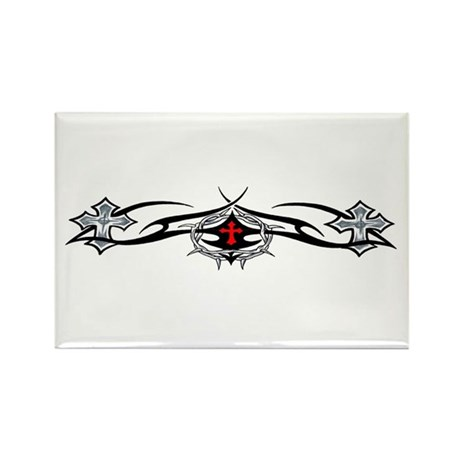 Crosses with Tribal Rectangle Magnet (100 pack)