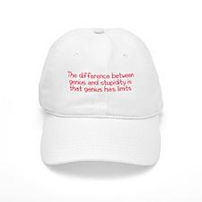 Stupidity versus Genius Baseball Cap