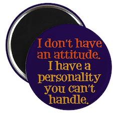 "Attitude versus Personality 2.25"" Magnet (100 pack"