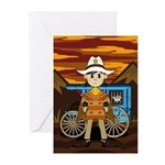 Cute Cowboy Sheriff Greeting Cards (Pk of 10)
