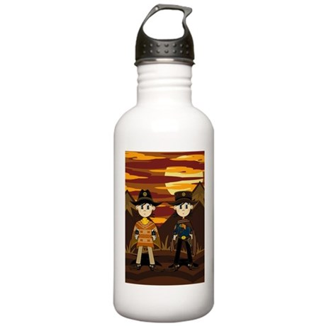 Cute Cowboy Sheriff Stainless Water Bottle 1.0L