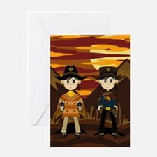Cute Cowboy Sheriff Greeting Card