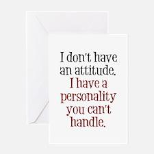 Attitude versus Personality Greeting Card