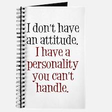 Attitude versus Personality Journal