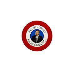 Florida Barack Obama pin for 2012
