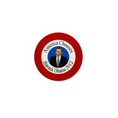 America Chooses Barack Obama pin