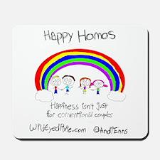 Wild Eyed Pixie - Happy Homo Mousepad