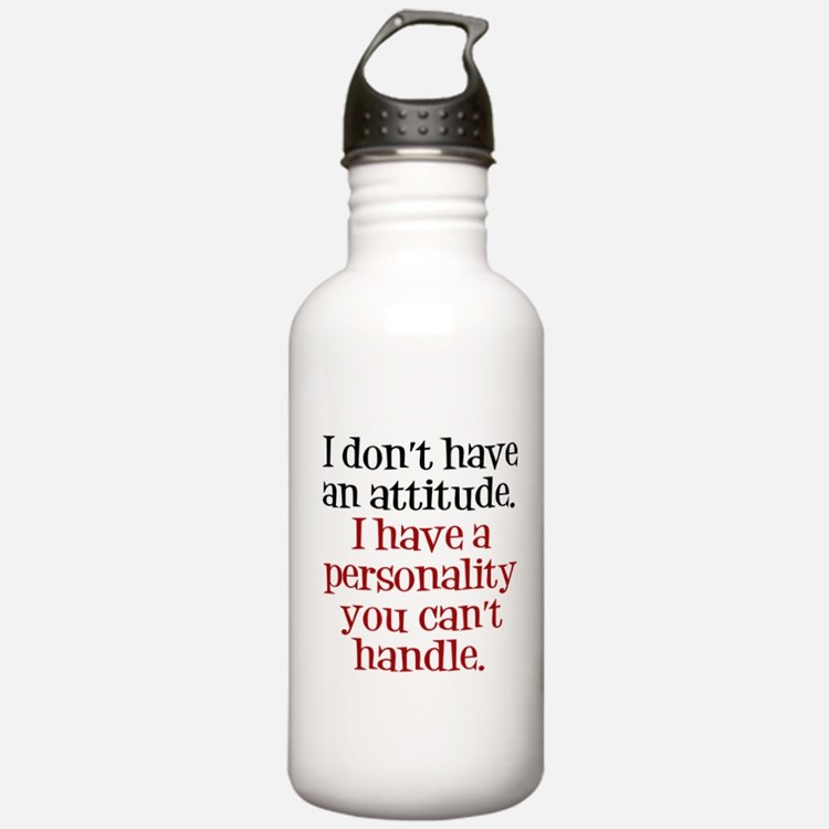 Attitude versus Personality Water Bottle