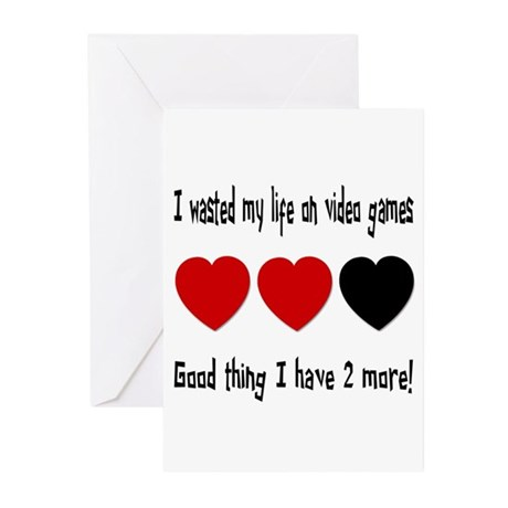 Funny Video Games Greeting Cards (Pk of 10)