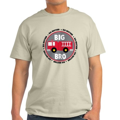 Big Brother Fire Truck Light T-Shirt