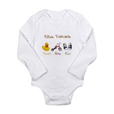 Future Triathlete Long Sleeve Infant Bodysuit