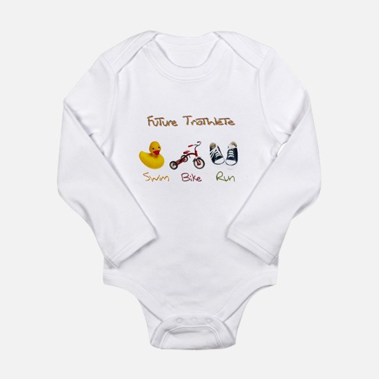Future Triathlete Long Sleeve Infant Bodysuit