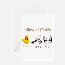 Future Triathlete Greeting Card