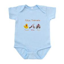 Future Girl Triathlete Infant Bodysuit