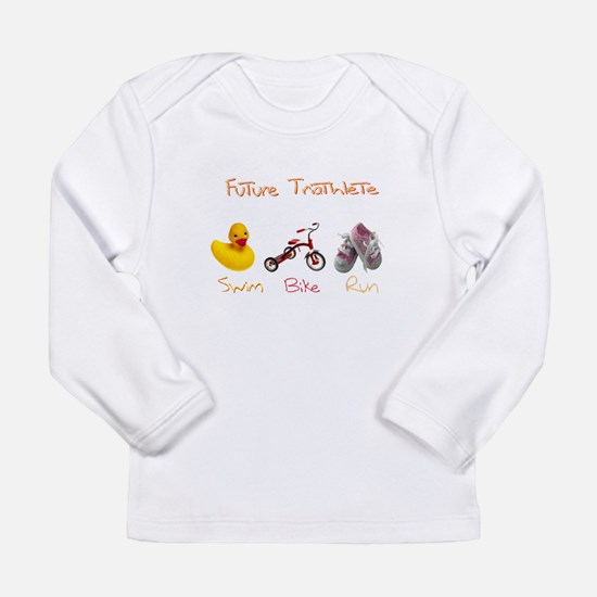 Future Girl Triathlete Long Sleeve Infant T-Shirt