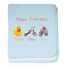 Future Girl Triathlete baby blanket