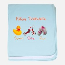 Future Girl Triathlete baby blanket