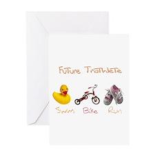 Future Girl Triathlete Greeting Card