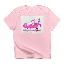 Papa's Co-Pilot Pink Infant T-Shirt