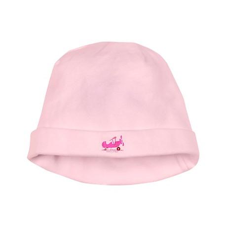 Papa's Co-Pilot Pink baby hat