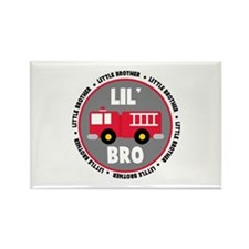 Lil Brother Fire Truck Rectangle Magnet