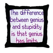 Stupidity versus Genius Throw Pillow