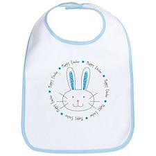 Hoppy Easter Bunny boy Bib