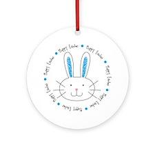 Hoppy Easter Bunny boy Ornament (Round)