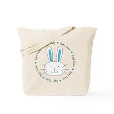 Hoppy Easter Bunny boy Tote Bag