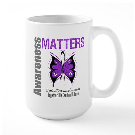 Crohn's Disease Butterfly Large Mug