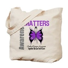 Crohn's Disease Butterfly Tote Bag