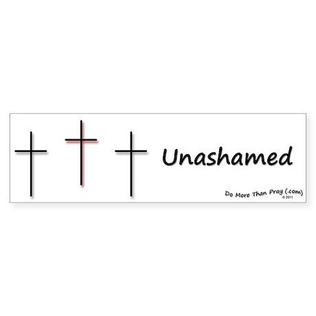 Sticker (Bumper) - 3 Crosses Unashamed