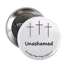 """2.25"""" Button - 3 Crosses Unashamed"""
