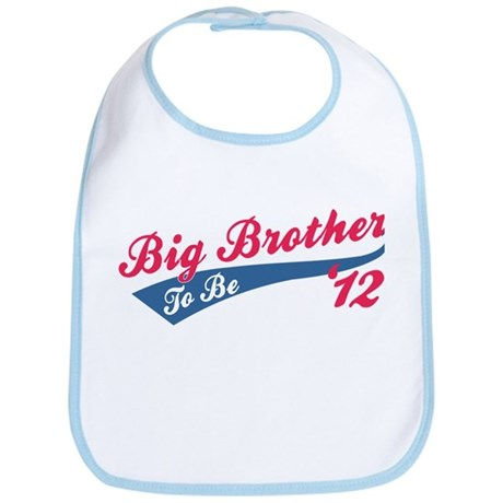 Big Brother To Be '12 red Bib