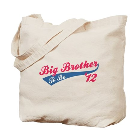 Big Brother To Be '12 red Tote Bag