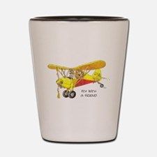 Fly With A Friend Shot Glass