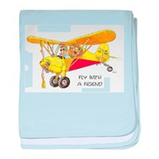 Fly With A Friend baby blanket