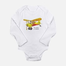 Fly With A Friend Long Sleeve Infant Bodysuit