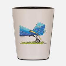 Blue Tail Shot Glass