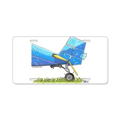 Blue Tail Aluminum License Plate