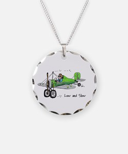 Low and Slow Necklace Circle Charm