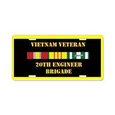 20th Engineer Brigade Aluminum License Plate