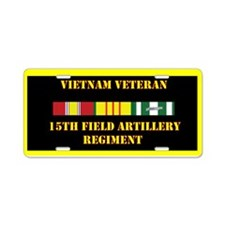 15th Field Artillery Aluminum License Plate