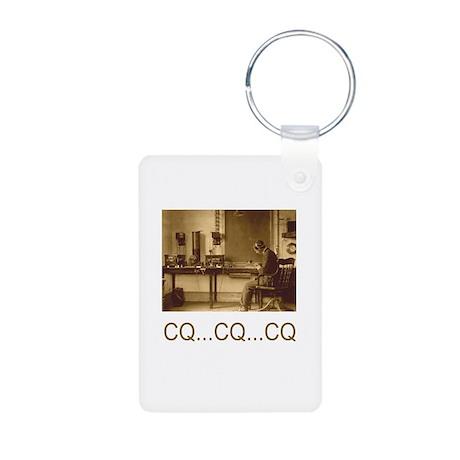 CQ...CQ...CQ Aluminum Photo Keychain